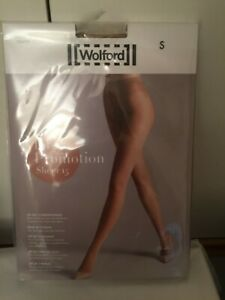 Wolford Satin Sheer 15 Tights  3 for 2 promotion pack in SMALL in CARAMEL.