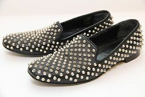 Giaco Morelli Loafers Moccasin Studded Spike Slip-on Genuine Leather Shoes 37.5