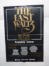 THE LAST WALTZ / MARTIN SCORSESE (1978/USA) ORIGINAL YUGOSLAVIAN MOVIE POSTER