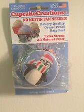 Cupcake Creations 32 Standard Christams Penguin Baking Cups