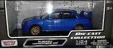 Subaru Impareza WRX STI Die-cast Car 1:24 Motormax 8 inch Blue