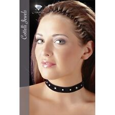 VELVET CHOKER with Cottelli jewels Size S-L Halsband Necklace Collar