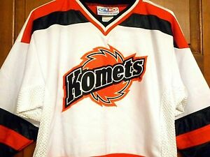Classic Fort Wayne Komets STITCHED Hockey Jersey, Youth XL, NICE!!!
