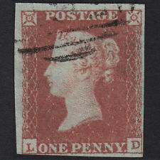 Y22 GB QV 1841 1d RED-BROWN PLATE 99 SG8-B1(1) LD FU LIGHT CANCEL NR 4 MARGINS