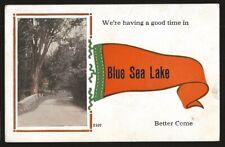 Canada BLUE SEA LAKE, Quebec 1910s Postcard Good (G)