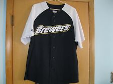 Milwaukee Brewers MLB Blue-White Majestic Jersey Brewers Patch Adult XL