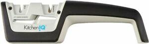 Smith's KitchenIQ Diamond Pro 2-Stage Knife Scissor Sharpener Coarse Fine #50217