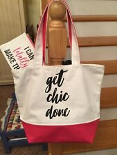 """NEW LARGE HOBBY/CRAFT TOTE BAG & ACCESSORY CASE """"GET CHIC DONE"""""""