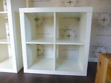 IKEA ♛ EXPEDIT Regal Raumteiler Bücherregal 4 Fächer 2x2 weiß 79x79cm w. KALLAX