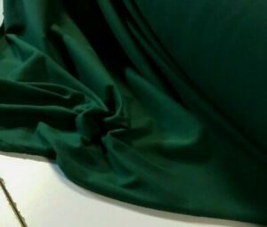 BOTTLE GREEN COMBED COTTON JERSEY FABRIC : 180CM WIDE : $9.50 P/M : #Q91BG