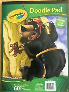 Crayola Doodle Pad 2010 60 Pages (BRAND NEW)