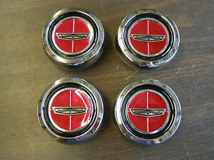 New Repro- Ford Torino Magnum 500 Wheel Center Caps Metal 1971 1972 1973 1974 GT