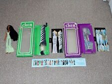 1976 Mego Cher Doll with Mint Julip, La Plume & Electric Feathers Fashions Lot