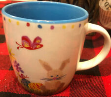 STARBUCKS 2007 Easter Bunny Rabbit Child's Mug Coffee Cup 6oz Colorful