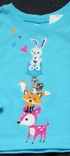 Forrest Animal Tower Shirt Owl Fox Squirrel Bunny 6-9 Months Shimmer Blue TCP