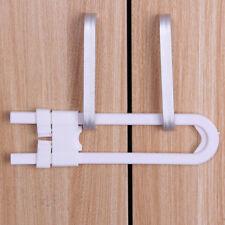 1x Toddler U Shape Safety Cabinet Door Drawer Latch Lock for Child Baby Kid