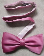 VINTAGE MENS DICKIE BOW TIE BOWTIE 1980s 1990s ENGLISH ROSE PINK ADJUSTABLE