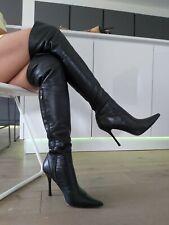 Mascotte by Lorenzi High Heel Stiletto Leder Stiefel Boots Overknee Spitz 38