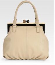 RARE Kate Spade New York Bixby Handbag kisslock closure Beige Leather
