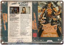 "1990 Bronx Warriors Media Home Video VHS Art 10""X7"" Reproduction Metal Sign V22"