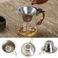 New Teaware Funnel Kungfu Leaf Filter Fine Mesh Tea Strainer Stainless Steel