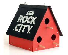 See Rock City Bird House Garden Birdhouse Bluebird Chickadee Purple Martin New