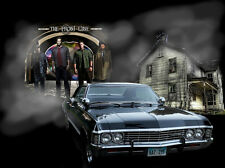 The supernatural TV Show Fabric Art Cloth Poster 17inch x 13inch Decor 145