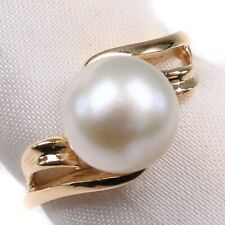 """0.3"""" Pearl Ring Pearl/K18 yellow gold #13(JP Size) Women"""
