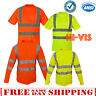 Hi Vis ANSI Class 3 Reflective Tape Safety T-Shirt / Long Sleeve HIGH VISIBILITY