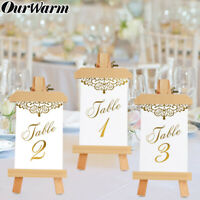 1-25 Gold Foil Double Side Wedding Table Number Place Card Holder Banquet Decor