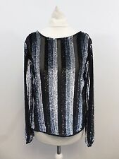 Asos Wrap Back Top in Sequin Stripe Size UK 6 Box4744 D