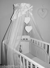 LOVELY  CANOPY DRAPE + HOLDER 4 BABY  COT /COTBED/ COT BED
