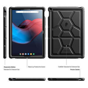 Full Body Soft Silicone Cover For Google Pixel Slate 12.3 Tablet Case Black