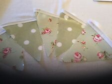 Outdoor Pvc Floral/Polka Dot Bunting 12 flags
