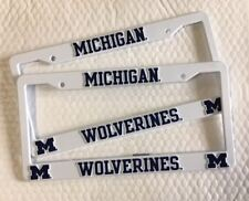2 Michigan Wolverines License Plate Frame NEW Auto Truck FREE SHIPPING