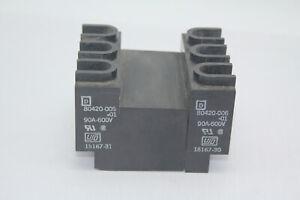 Square D 80420-006-01 Terminal Block Set 90A 600V Used