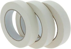 Coral 71300 Essentials Masking Tape for Paint Craft Trade and DIY 1 inch 25M 3 x