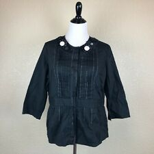 Icelandic Design Womens Blazer Jacket Floral Black Size XL