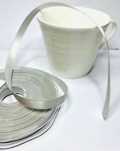 Eleganza Silver double sided Ribbon 3mm 6mm 10mm 15mm 25mm 38mm