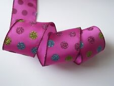 Christmas Ribbon, Multicolor , 2 1/2 In Wide, Wired Edge, 5 YARDS