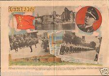 WWII Germany Prussia Free City of Danzig Gdansk Poland/Greiser 1939 ILLUSTRATION