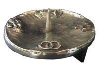 Taufkerzenleuchter Kerzenleuchter Leuchter 4 Symbole 11,5 Bronze candle holder