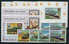 Niger 662/65 gez. u. geschnitten + Sonderblöcke / Eisenbahn - Autos .......2/490
