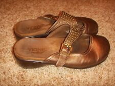 Vionic with Orthaheel Technology Elation Fallon Clogs Leather Womens Size 7