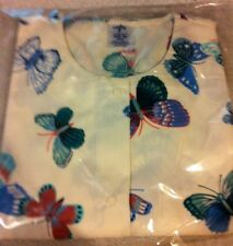Scrubs Print Warmup Colored Butterflies on White BG by Medline S