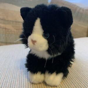 Vintage 2000's Toys R Us Animal Alley Black & White Cat Plush Doll Stuff Animal