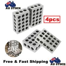 """4Pcs 23 Holes 1-2-3 Blocks Set 0.0001"""" Precision Matched Mill Machinist 123 AU"""
