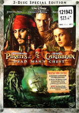 PIRATES OF THE CARIBBEAN - DEAD MAN'S CHEST - (2) DVD SET + SLIP COVER - SEALED
