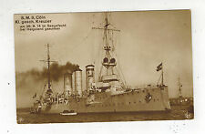1915 Germany Seepost RPPC Postcard Cover to Schoneberg SMS Coln Cruiser