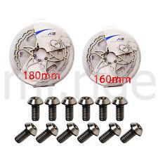 mr-ride Ti titanium Bolts 12pcs+ ASHIMA Ai2 Disc Rotor Set 160+180mm 2pcs
